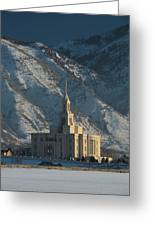 Payson Utah Temple In January 2014 Greeting Card