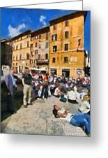 Piazza Della Rotonda In Rome Greeting Card
