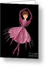 6 Pink Ballerina Greeting Card