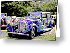 Psychedelic Classic Lagonda Greeting Card