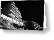 Salou Waterfront Properties On The Costa Dorada Catalonia Spain Greeting Card