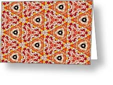Seamlessly Tiled Kaleidoscopic Mosaic Pattern Greeting Card