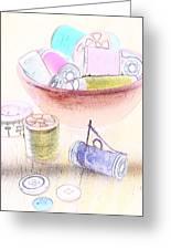 Sewing Supplies Greeting Card