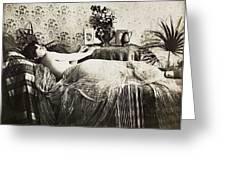 Sleeping Woman, C1900 Greeting Card