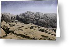 Slope Of Hills In The Scottish Highlands Greeting Card