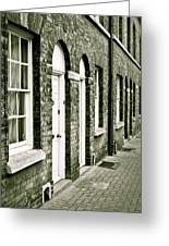Town Houses Greeting Card