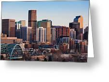 Usa, Colorado, Denver, City View Greeting Card