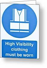 Warning Sign Greeting Card
