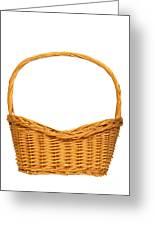 Wicker Basket Number Seven Greeting Card