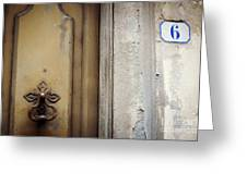 6 With Doorknocker Greeting Card
