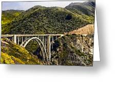 604 Det  Big Sur Bridge Greeting Card