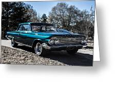 61 Chevrolet Biscayne Greeting Card