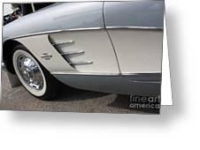61 Corvette-grey-sidepanel-9241 Greeting Card