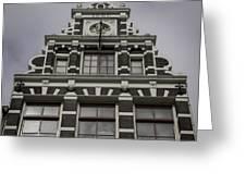 62 Damrak Amsterdam Squared Greeting Card