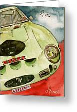 62 Ferrari 250 Gto Signed By Sir Stirling Moss Greeting Card