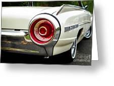 62 Thunderbird Tail Light Greeting Card