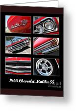 65 Malibu Ss Poster Greeting Card