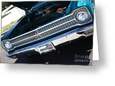 65 Plymouth Satellite Grill-8481 Greeting Card