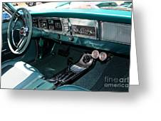 65 Plymouth Satellite Interior-8499 Greeting Card