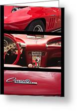 65 Vette Poster Greeting Card