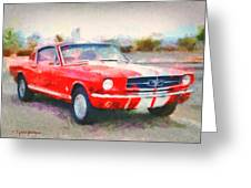 66 Mustang Gt 350 Greeting Card