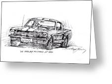 66 Shelby 350 Gt Greeting Card by David Lloyd Glover