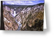 661 Sl Yellowstone Canyon  Greeting Card