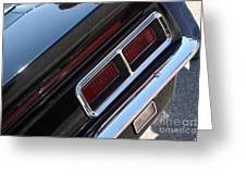 67 Black Camaro Ss Tail Light-8020 Greeting Card