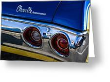 67 Chev Taillight Greeting Card