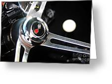 67 Malibu Chevelle Steering Wheel-0055 Greeting Card