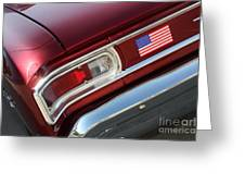 67 Malibu Chevelle Tail Light-0060 Greeting Card