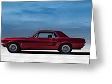 67 Mustang Greeting Card