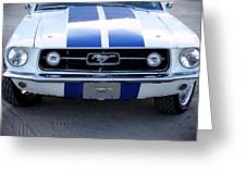 67 Mustang Grill Greeting Card