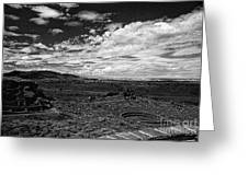 672 Sl Bw Tuzigoot 3  Greeting Card