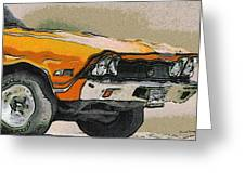 68 Chevelle Abstract Greeting Card