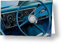 68 Chevy Truck Dash Greeting Card