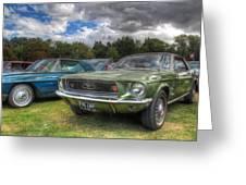 68' Mustang Greeting Card