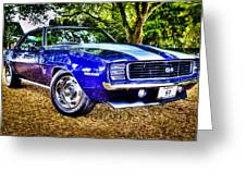 69 Chevrolet Camaro - Hdr Greeting Card by motography aka Phil Clark