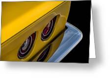 '69 Corvette Tail Lights Greeting Card