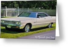 '69 Plymouth Sport Fury Greeting Card by Thomas Schoeller