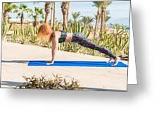 Woman Doing Yoga Greeting Card