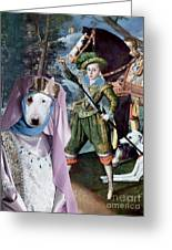 Bull Terrier Art Canvas Print Greeting Card