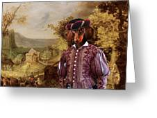 Dachshund Art Canvas Print Greeting Card
