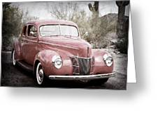 1940 Ford Deluxe Coupe Greeting Card