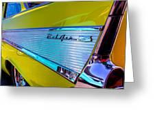 1957 Chevy Bel Air Custom Hot Rod Greeting Card