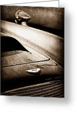 1959 Aston Martin Db4 Gt Hood Emblem Greeting Card
