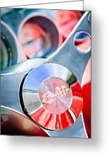1960 Chevrolet Corvette Steering Wheel Emblem Greeting Card