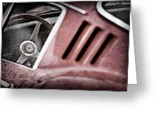 1966 Ferrari 275 Gtb Steering Wheel Emblem Greeting Card by Jill Reger