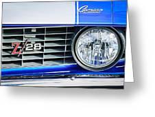 1969 Chevrolet Camaro Z-28 Grille Emblem Greeting Card