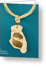 Aphrodite Anadyomene Necklace Greeting Card by Augusta Stylianou